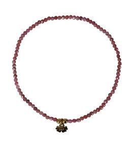 Pimps and Pearls Fine Rocks Bracelet Facet 07 Rhodonite