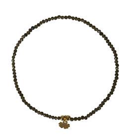 Pimps and Pearls Fine Rocks Bracelet Facet 12 Golden Obsidaan
