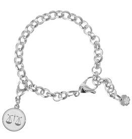Pimps and Pearls Zodiac Bracelet 10 Libra Weegschaal