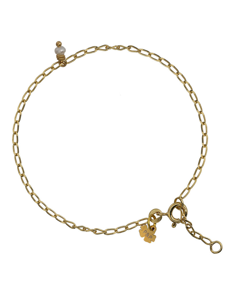 Pimps and Pearls Fine Pearl Bracelet 02 Gold