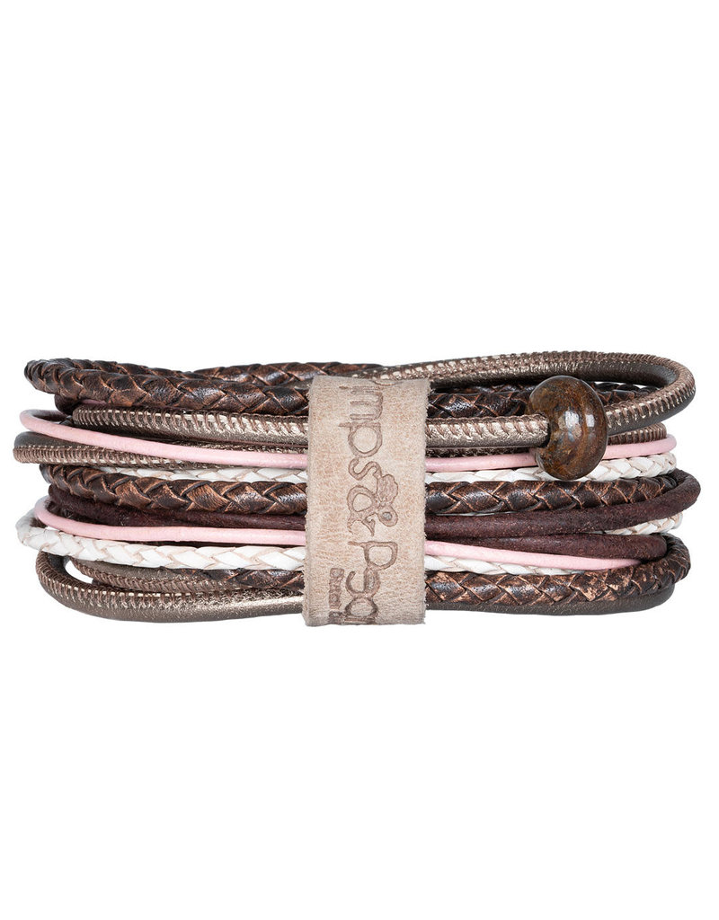 Pimps and Pearls Moesss Superior Armband 162 Sweet Pink Choco