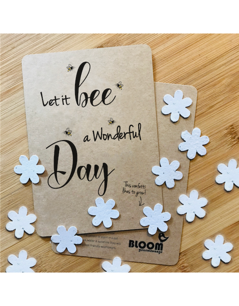 Bloom Bloom Bloeikaart - Confetti