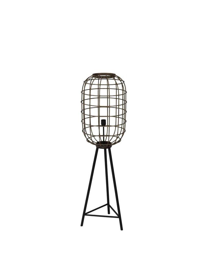 Light and Living Vloerlamp Ø35,5x125 cm TOAH oud brons-mat zwart