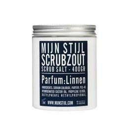 Mijn Stijl Scrubzout parfum Linnen 400 gram blauw etiket