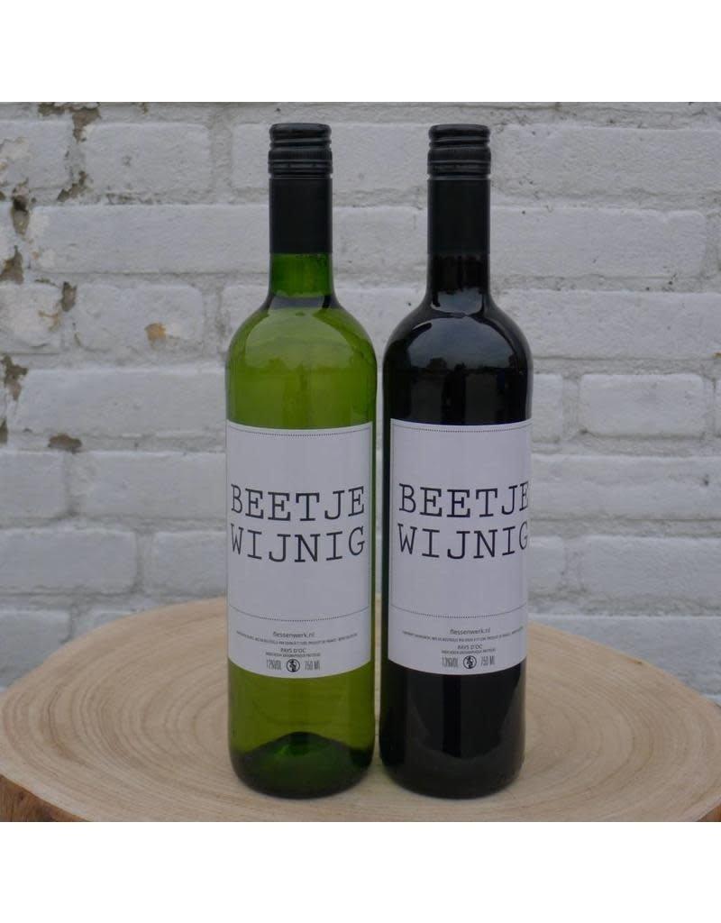 Flessenwerk Flessenwerk Beetje Wijnig wijn