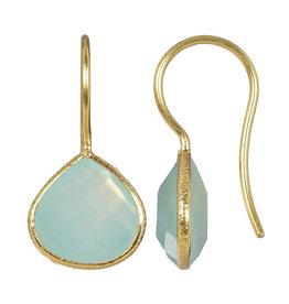 Pimps and Pearls Earring Riva Fine Gems 07 Aqua Calcedony Gold