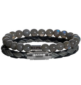 Pimps and Pearls My Hero 04 Black Grey Labradorite - Men