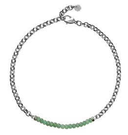 Pimps and Pearls Moesss2 Choker Pret a Porter 12 Green Aventurijn