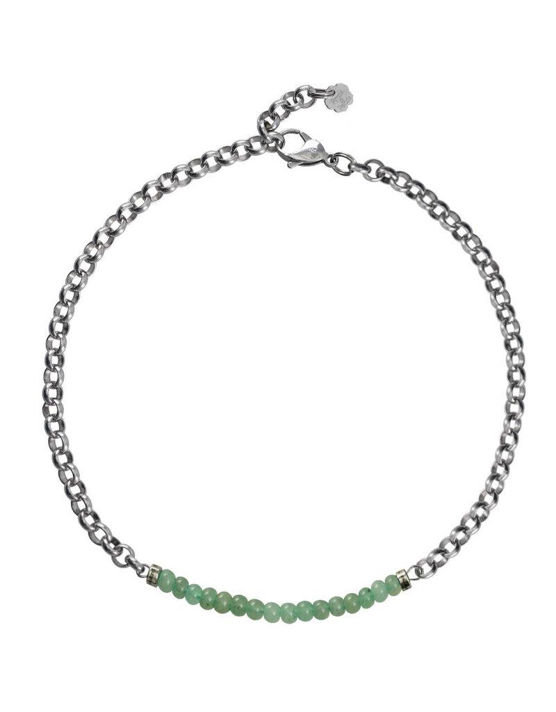 Pimps and Pearls Moesss2 Choker Pret a Porter 12 Green Aventurijn
