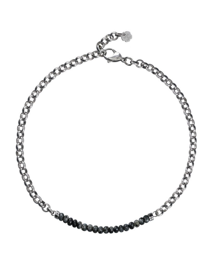 Pimps and Pearls Moesss2 Choker Pret a Porter 21 Larvikite