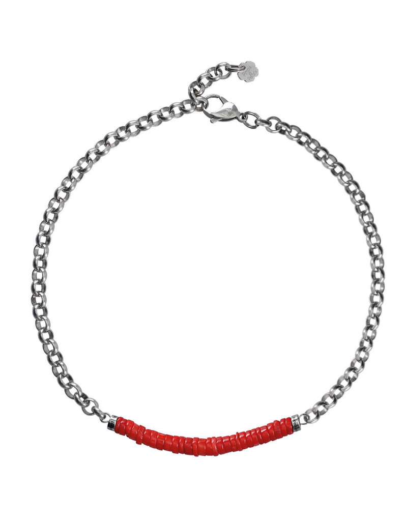 Pimps and Pearls Moesss2 Choker Pret a Porter 09 Bamboo Coral Red