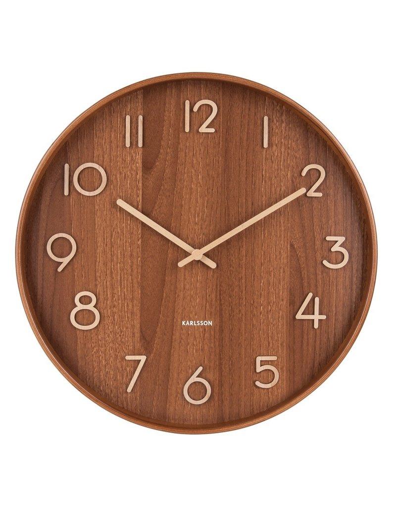 Karlsson Wall Clock Pure - Large - Dark Wood