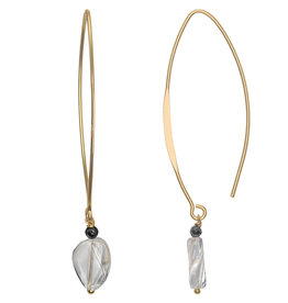 Pimps and Pearls Ear Fashion 01 Cristal Quartz V Hook Gold