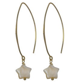 Pimps and Pearls Ear Fashion 03 Champagne Star V Hook Gold