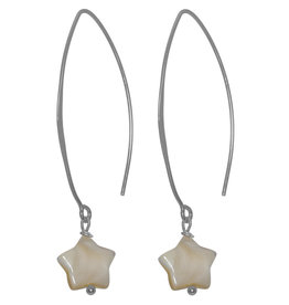 Pimps and Pearls Ear Fashion 04 Champagne Star V Hook Silver