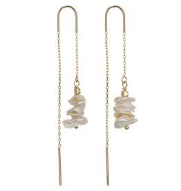 Pimps and Pearls Ear Fashion 11 Pearl Tree Gold