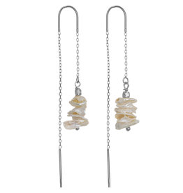 Pimps and Pearls Ear Fashion 12 Pearl Tree Silver