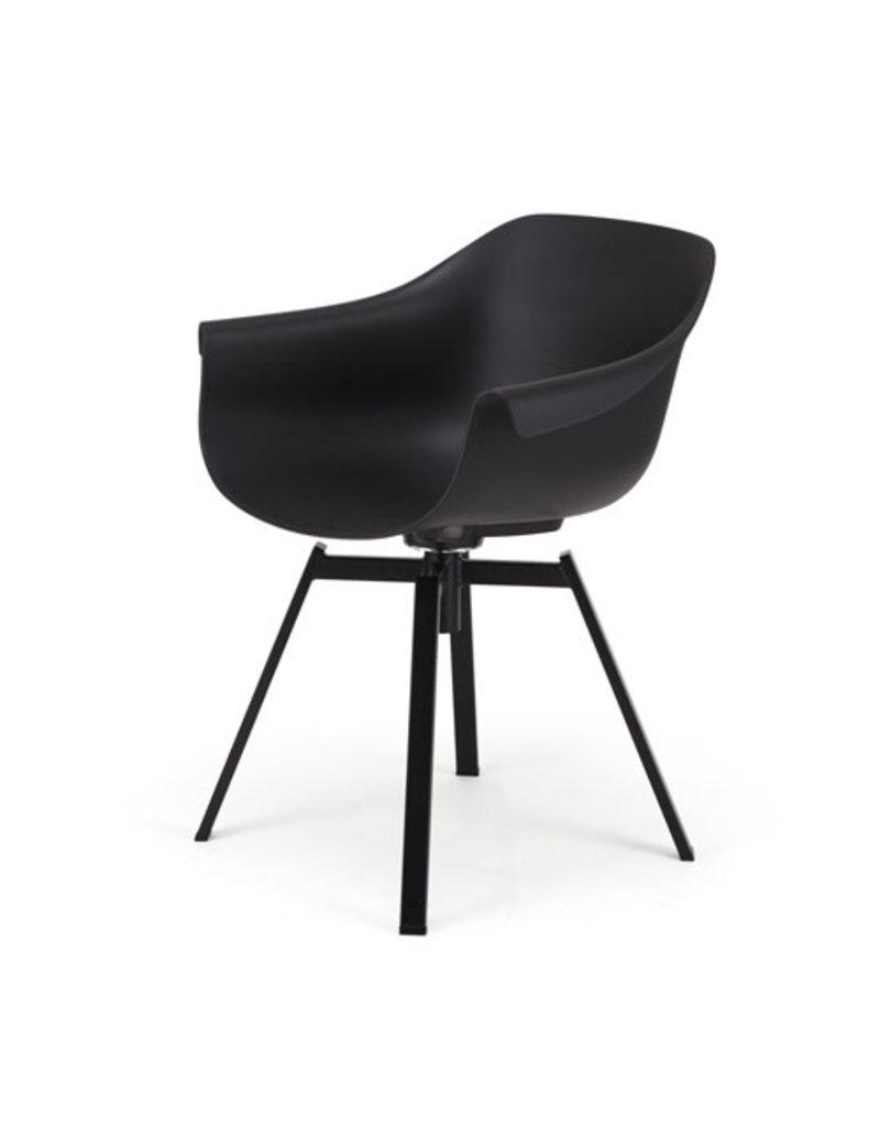 Muubs Eetkamer stoel / Dining chair - Swiwel Black / Zwart