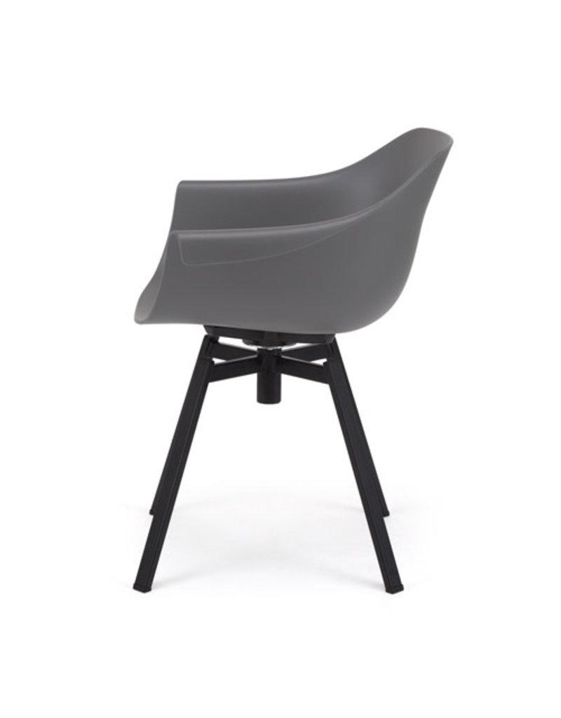 Muubs Eetkamer stoel / Dining chair - Swiwel Anthracite / Grijs