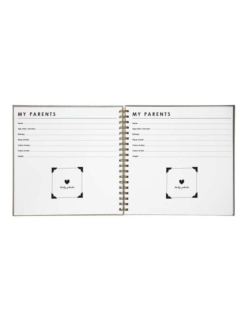 House of Products Babyboek - Linnen - Grijs