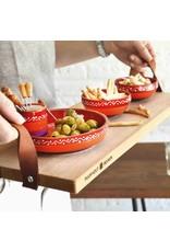 Bowls and Dishes Serveertray-Beukenhout 69 x 19,5 cm handgreep leer