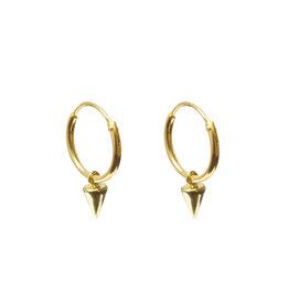 Label Kiki Point Hoops Earring Gold