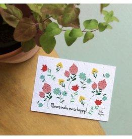 Bloom Bloom Bloeikaart - Fleurig Kleur