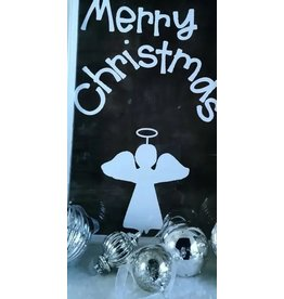 Op de Maalzolder Raamsticker herbruikbaar - Merry Christmas - Wit