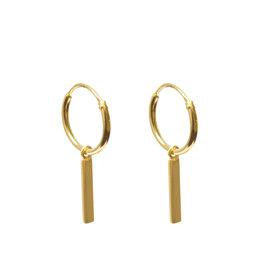 Label Kiki Bar Hoops Earring Gold
