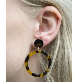 Label Kiki Brown Round - Earring