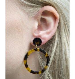 Label Kiki Statement Brown Round - Earring