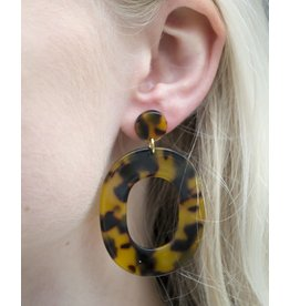 Label Kiki Brown Big Oval - Earring