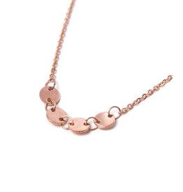 Label Kiki Round Necklace Rosegold