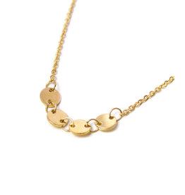 Label Kiki Round Necklace Gold