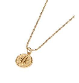 Label Kiki Logo Necklace Gold