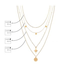 Label Kiki Ring Necklace Gold
