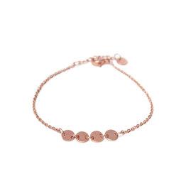 Label Kiki Round Bracelet Rosegold