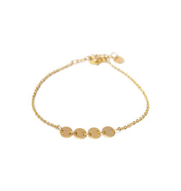Label Kiki Round Bracelet Gold