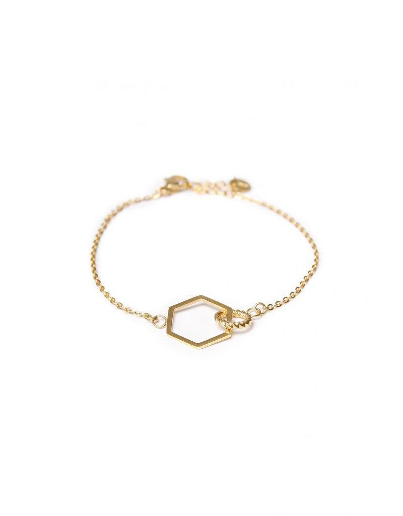 Label Kiki Hexagon Twist Bracelet Gold