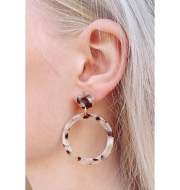 Label Kiki Soft Pink Round - Earring