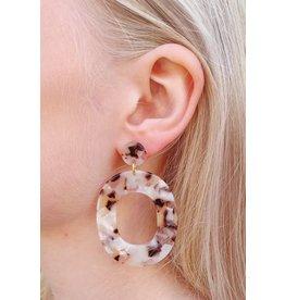 Label Kiki Statement Soft Pink Small Oval - Earring