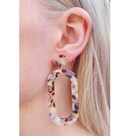 Label Kiki Statement Soft Pink Big Oval - Earring