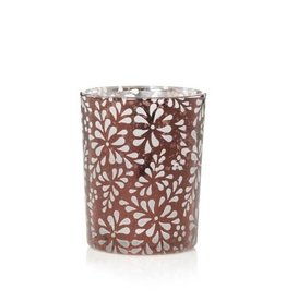 Yankee Candle Sheridan Votive Holder - Flower Bronze Punched Metal