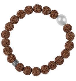 Pimps and Pearls Mala Bracelet Pearl 00 Rudraksha