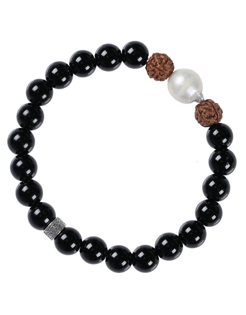 Pimps and Pearls Mala Bracelet Pearl 01 Onyx