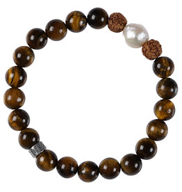 Pimps and Pearls Mala Bracelet Pearl 02 Tiger Eye