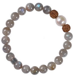 Pimps and Pearls Mala Bracelet Pearl 04 Labradorite