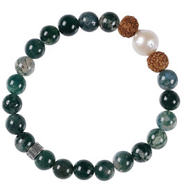 Pimps and Pearls Mala Bracelet Pearl 05 Mos Agate