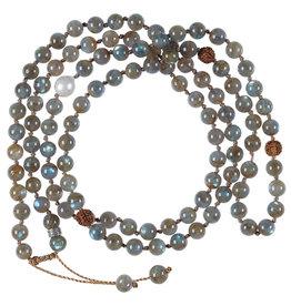 Pimps and Pearls Mala Necklace XL 04 labradorite