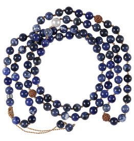 Pimps and Pearls Mala Necklace XL 06 Dark Sodalite